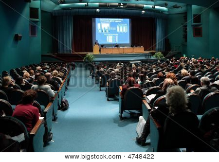 Conference In Auditorium
