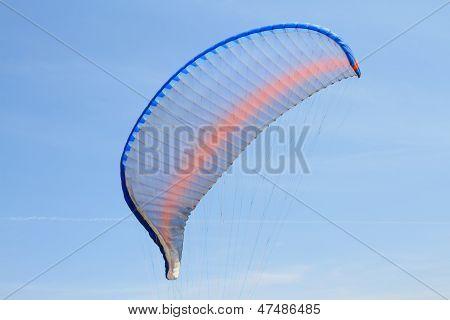 Paraglider Wing Over Blue Sky