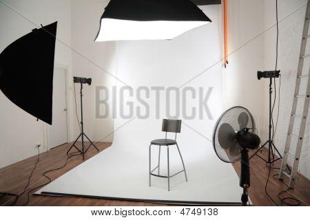Interieur van fotostudio