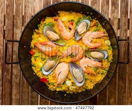 Seafood Paella  -traditional spanish dish