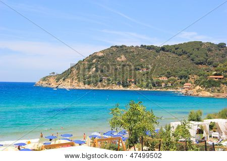 La Biodola beach, Procchio - Portoferraio, Elba island. Italy