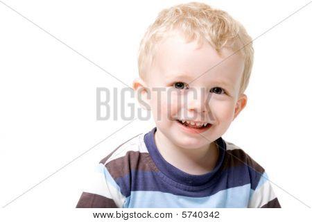 Boy Toddler Isolated On White