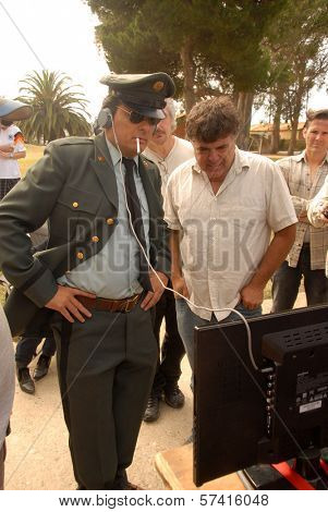 Damian Chapa  on the set of the first day of shooting