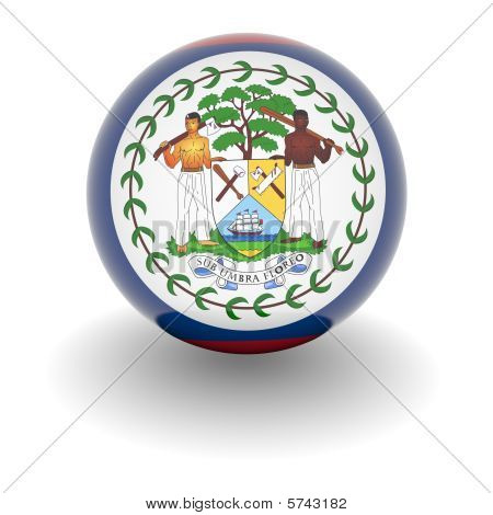 High Resolution Ball With Flag Of Belize