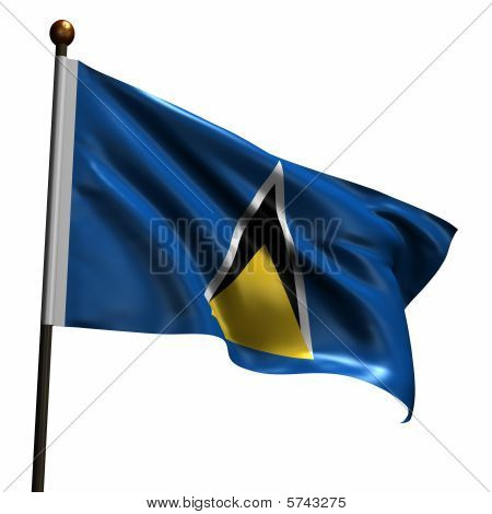 High Resolution Flag Of Saint Lucia