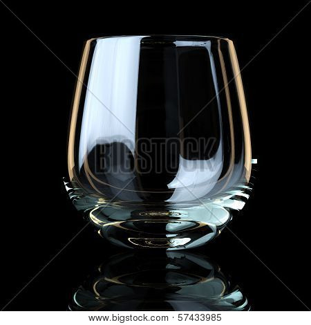 Glass Collection - For Whiskey. On Black Background