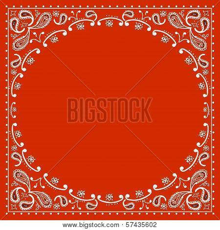 Red Cowboy Bandanna.vector illustration