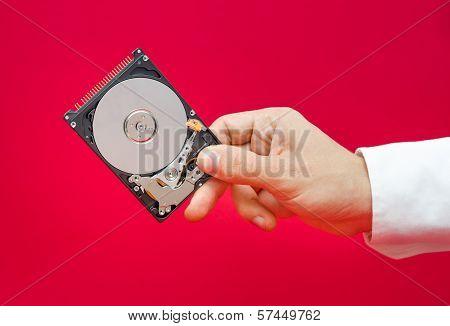 A Hand Holding An Hdd