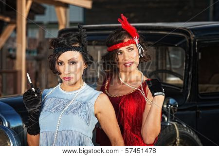 Pretty Flapper Girls