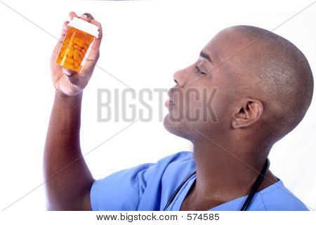 Male Nurse And Pills