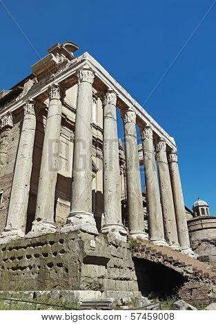 The Church Of San Lorenzo In Miranda In The Forum Roman