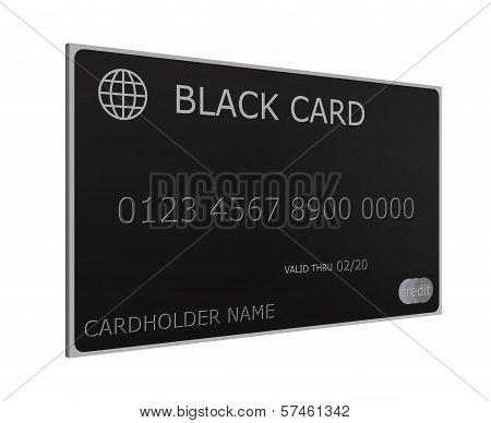 3D Black Credit Card