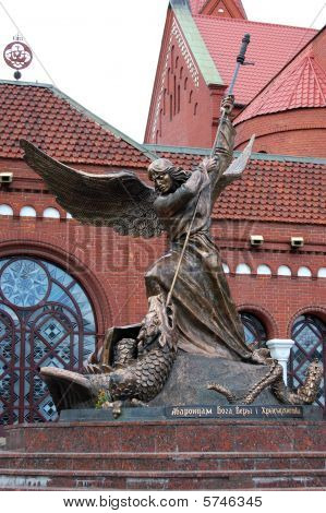 The statue of St. Michael