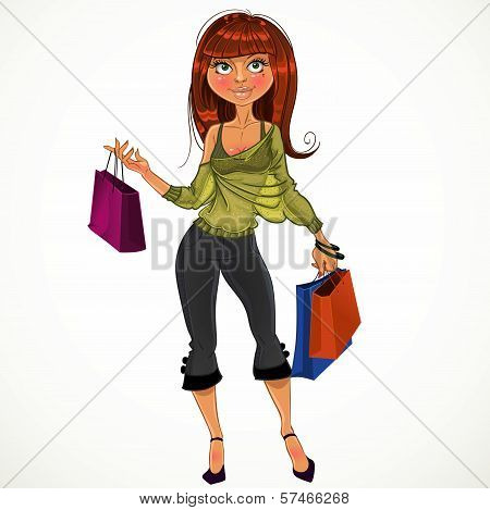 Pretty Shopping Glamur Girl