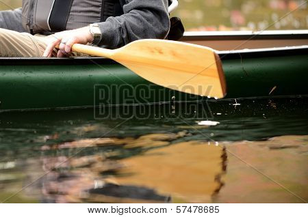Close-up Of A Man In A Canoe