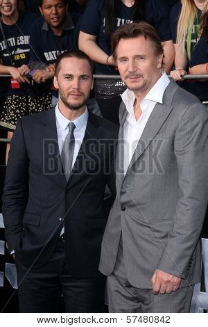 Taylor Kitsch, Liam Neeson at the