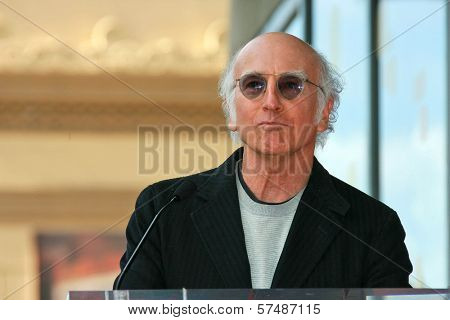 Larry David at the induction ceremony for Mary Steenburgen into the  Hollywood Walk of Fame, Hollywood Blvd., Hollywood. CA. 12-16-09