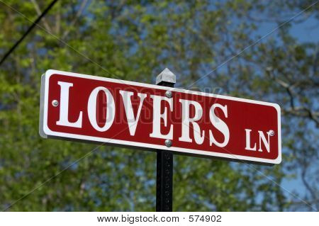 Lovers Lane Sign