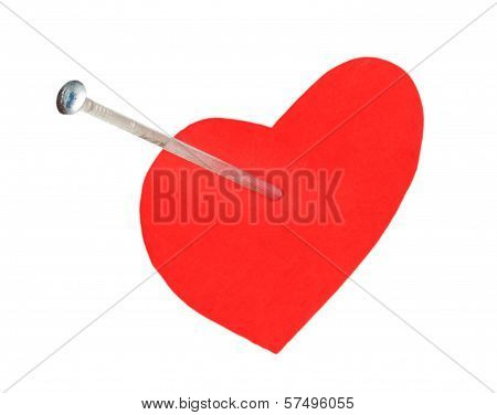Hobnail In A Red Heart