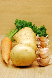Potato, Carrot And Garlic
