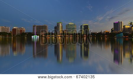 Orlando Skyline, Lake Eola