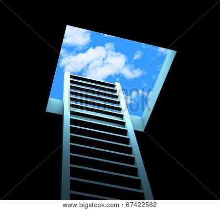 Planning Ladder Means Break Free And Aspirations