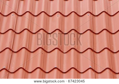 Tiled red roof background