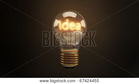 Bright Idea 3D Incandescent Light Bulb