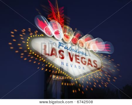 Blurred Las Vegas Welcome Sign
