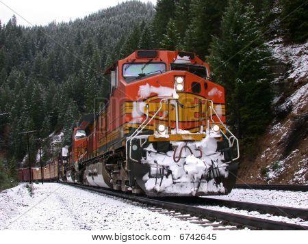 Snowy mountains freight train 2
