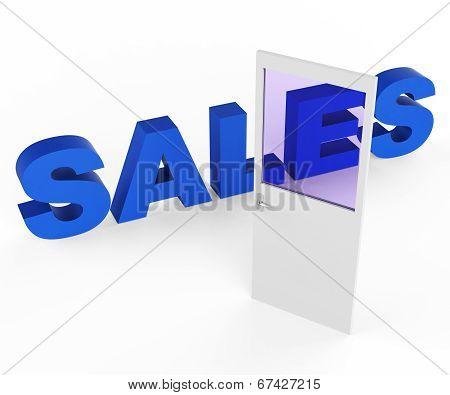 Sales Door Represents Doorways E-commerce And Doorframe