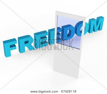 Door Freedom Represents Get Away And Doorways