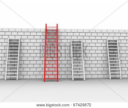 Brick Wall Shows Chalenges Ahead And Brickwall