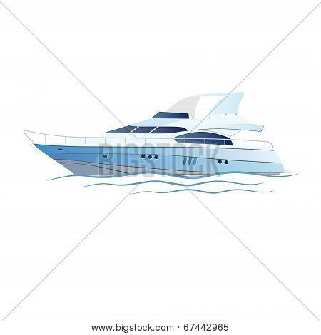Vector Speed Luxury Yacht