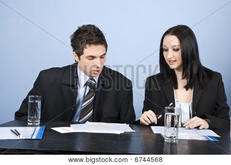 Two Business Person In Office