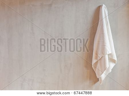 Hanging White Towel