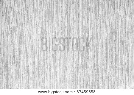 White Paintable Wallpaper On The Wall. Clean Background Photo Texture