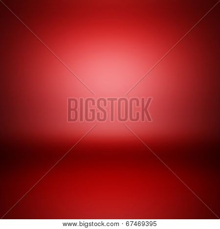 3d render illustration blank template of empty red metallic surface.