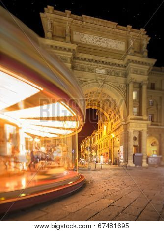 Carousel on Piazza della Repubblica in Florence