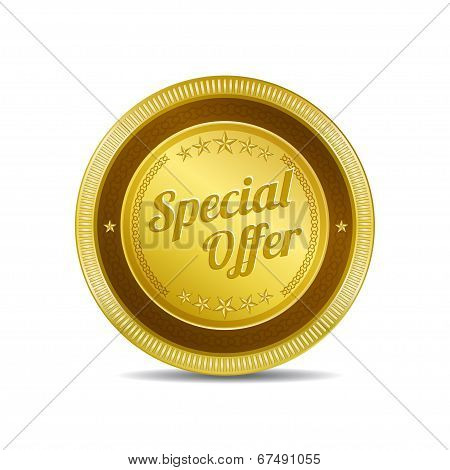 Special Offer Gold Vector Icon Button