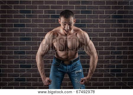 Bodybuilder Growls Menacingly.