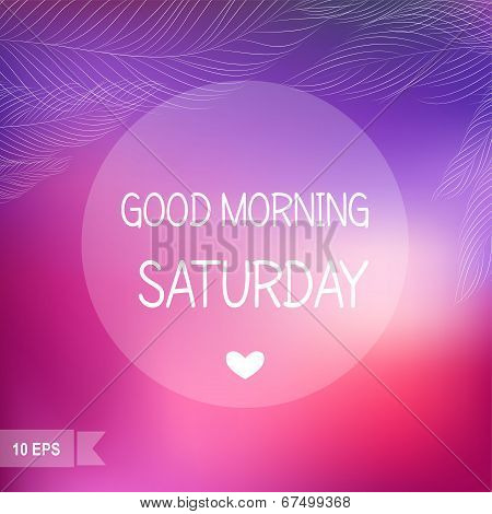 Saturday?