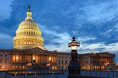 U.S. Capitol at night - Washington D.C. United States  poster