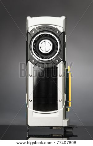 professional gaming graphic card, grey background