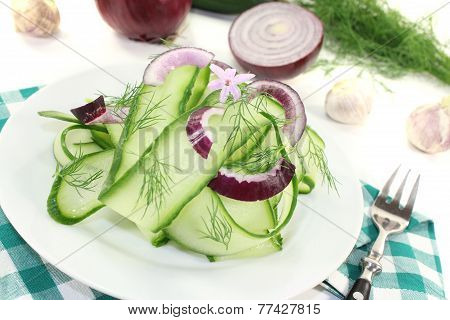 Cucumber Salad With Garlic Flower