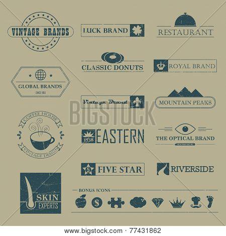 Vintage brands and logo