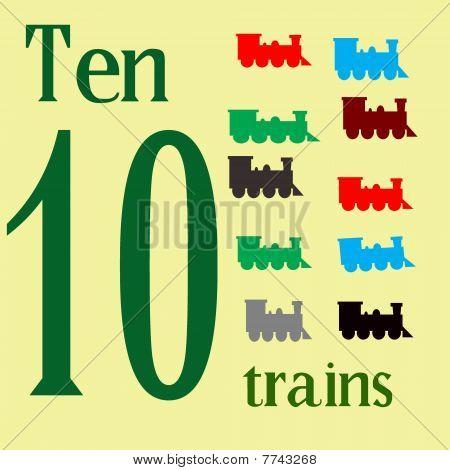 Ten Toy Trains