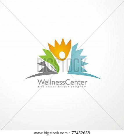 Wellness center logo design concept