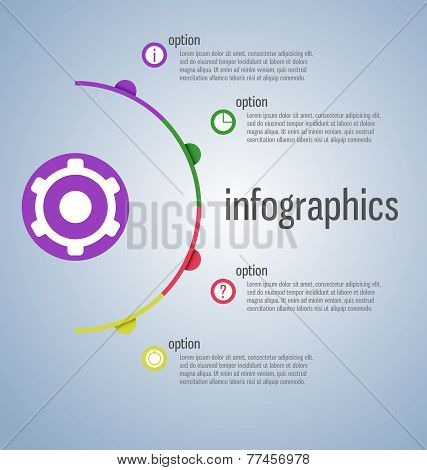Modern, Clear Template Cirlce Shape. Can Be Used For Infographics, Websites Elements, Presentations,