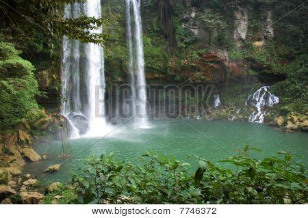 Waterfall aqua azul mexico